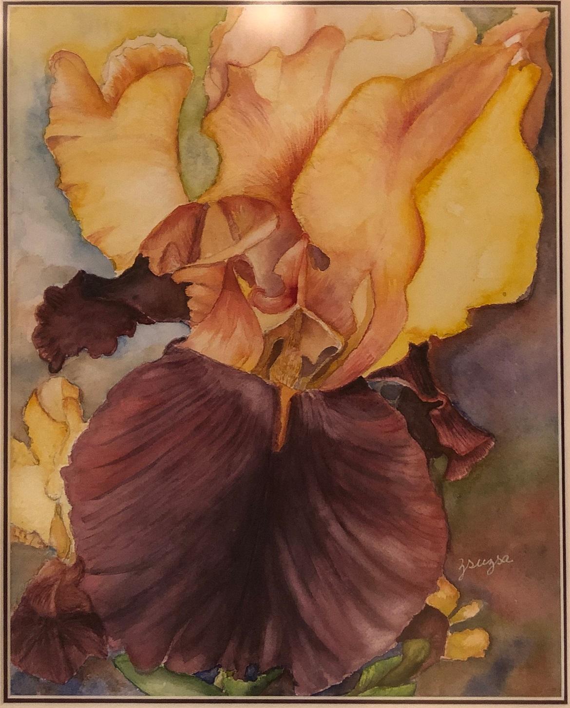 blossoming iris